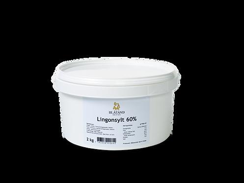 Lingonsylt 60 % 2 kg