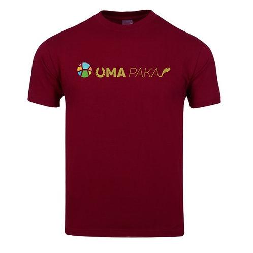 UMAPAKA プリントシャツ(ワインレッド)