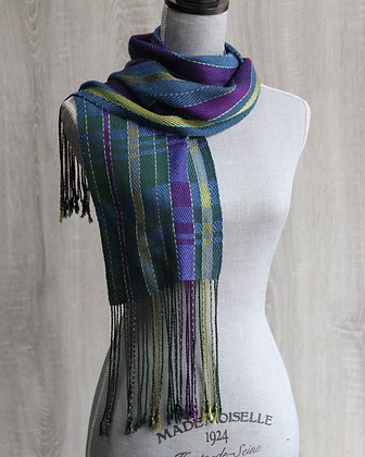 Blue, Green, & Purple Scarf