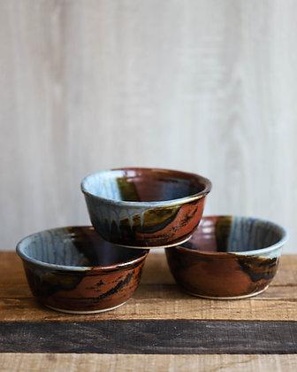 Blue Ash Glaze Soup Bowls