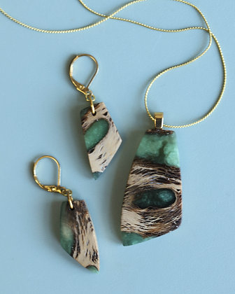 Wood & Resin Jewelry Set