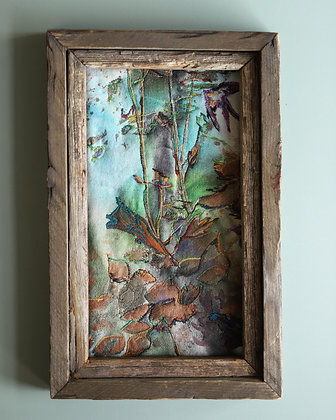 Framed Quilted Thread Painting