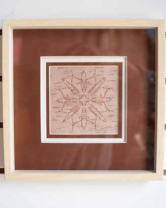 Framed + Matted Traditional Birch Bark Biting