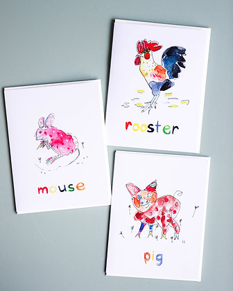 Farmyard Friends - Pack of 3 Cards