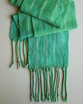 Woven Green Scarf