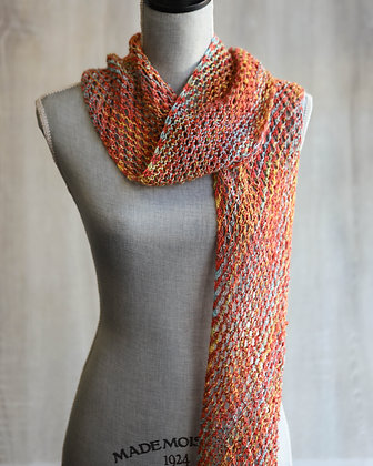 Colourful Hand Knit Scarf