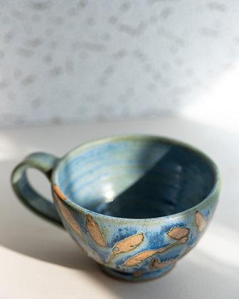Blue Cappuccino Cups
