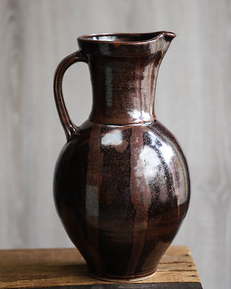 Large Burgundy Pitcher