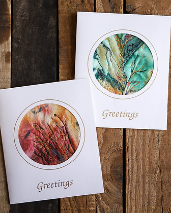Thread Painting Greeting Card