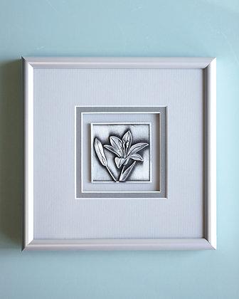 Framed Pewter Tiger Lily