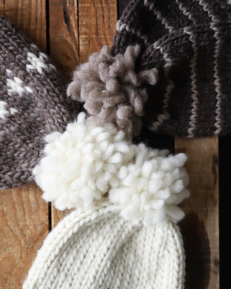 Hand Knit Wool Toques