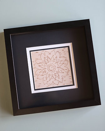 Framed + Matted Traditional Birch Bark Biting