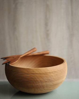 Large Turned Wood Bowl