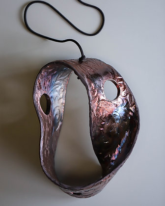 Raku Fired Mobius Sculpture