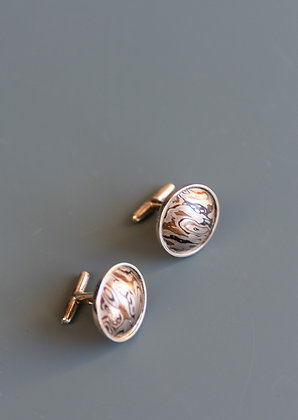 Sterling Silver & Copper Cuff Links