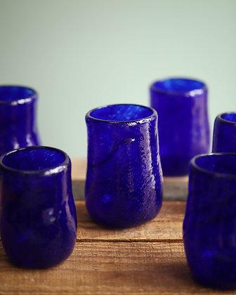 Royal Blue Glass Tumblers