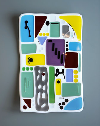 Colourful Fused Glass Plate