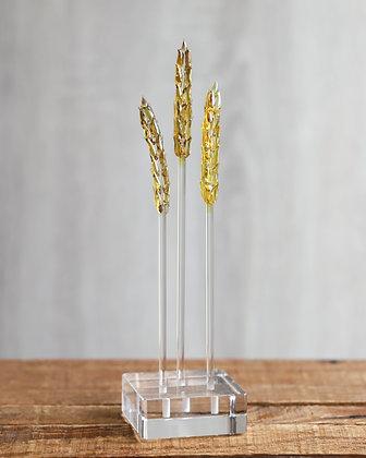 Three Gold/Amber Wheat