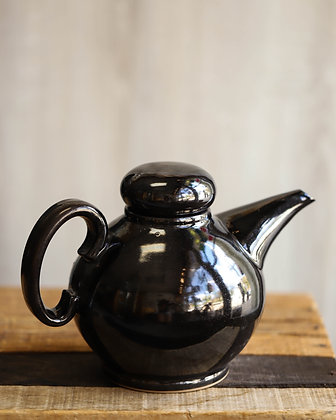 Black Glazed Teapot