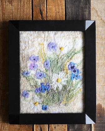 Framed Felted Flowers