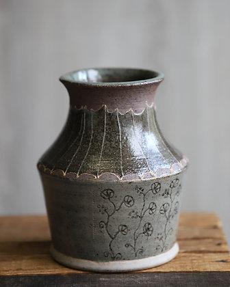 Grey & Purple Vase