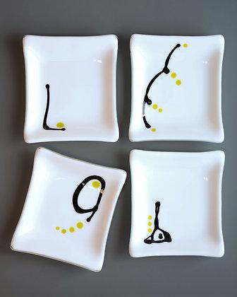 Square Glass Plates
