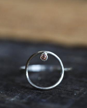 Peach Topaz Ring