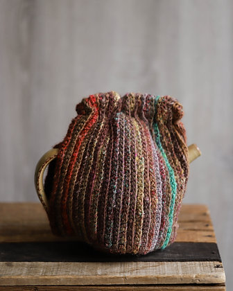 Striped Knit Tea Cozy
