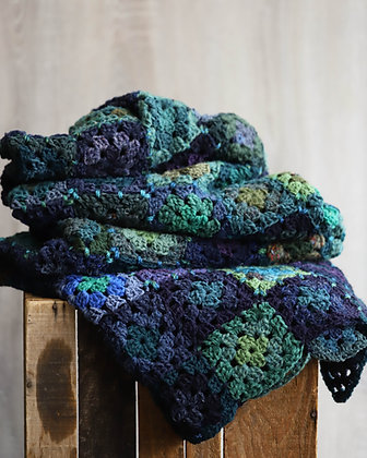 """""""Not Your Grannie's Squares"""" Throw Blanket"""