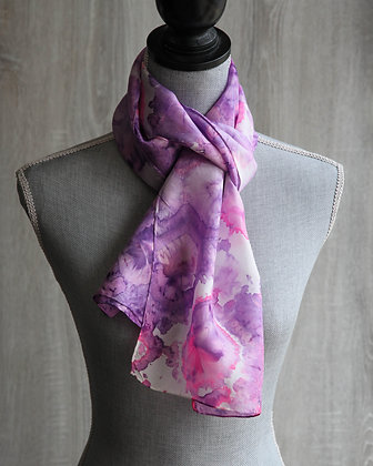 Pink & Purple Silk Scarf
