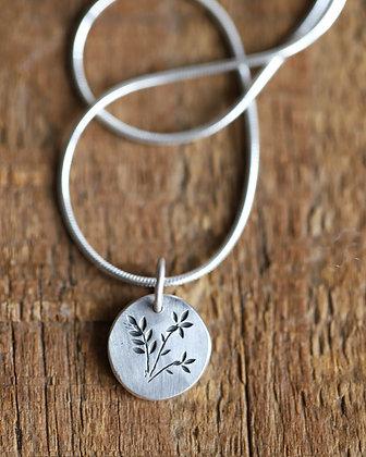 Tiny Silver Pendant