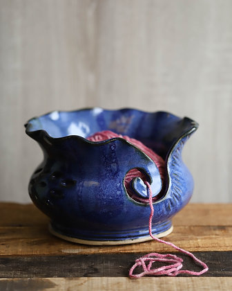 Royal Blue Yarn Bowl