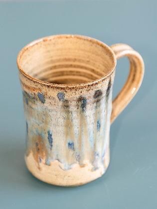 Medium Tan/Light Blue Mug