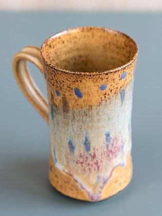 Large Tan/Light Blue Mug