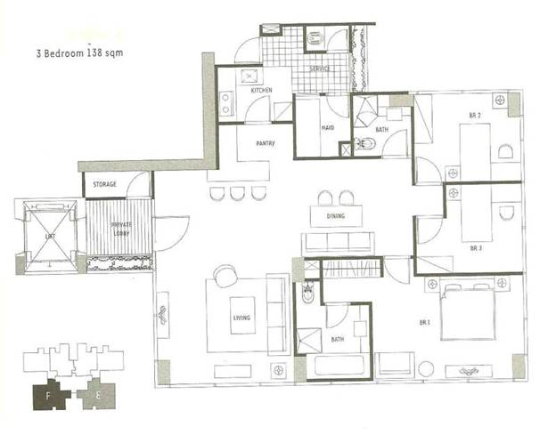 1 Park Residence (3br 138m)