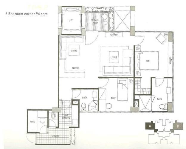 1 Park Residence (2br 94 m)