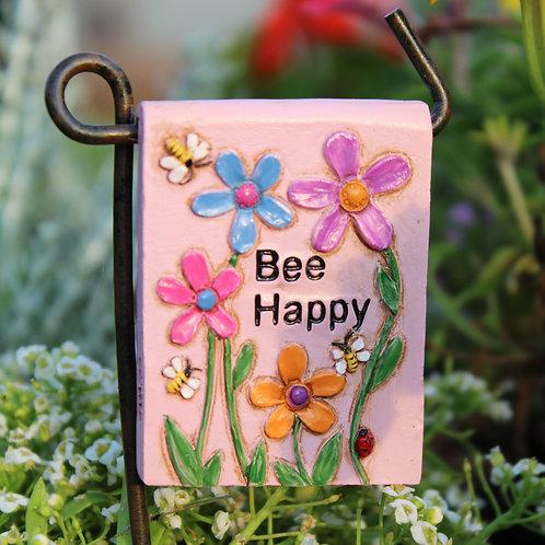 """Bee Happy"" Sign"