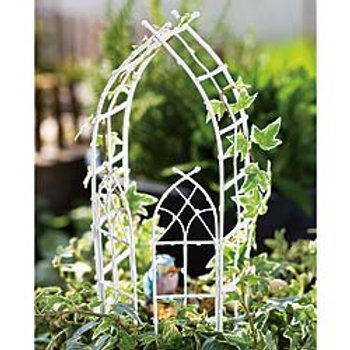 Willow Arbor w/doors - White