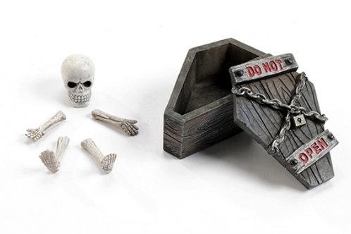 Coffin with Skeleton Set