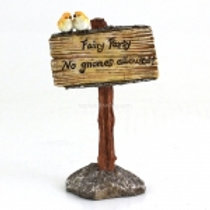 """""""Fairy Party, No Gnomes Allowed"""" Sign"""