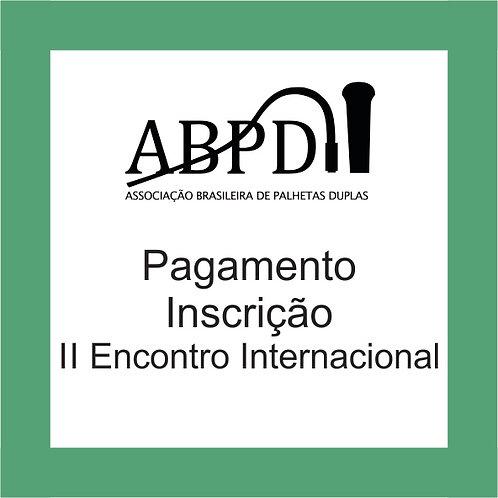 Inscrição II Encontro Internacional da ABPD 2018