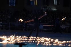 strie fire show colata di fuoco