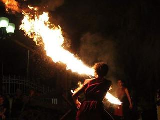 Strie Fire Show a Villaguattera Medievale (PD) - 09.06.2017