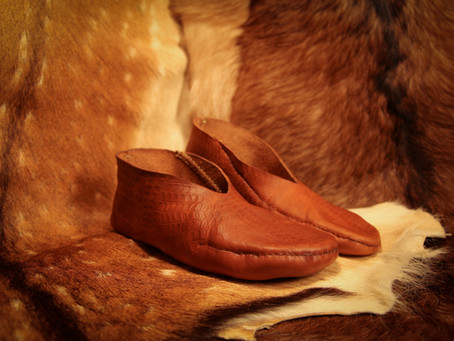 A Pictish shoe replica