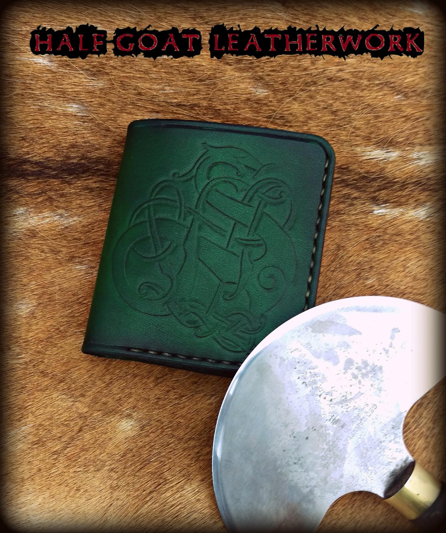 HalfGoat Leatherwork Green Urnes Wallet.jpg