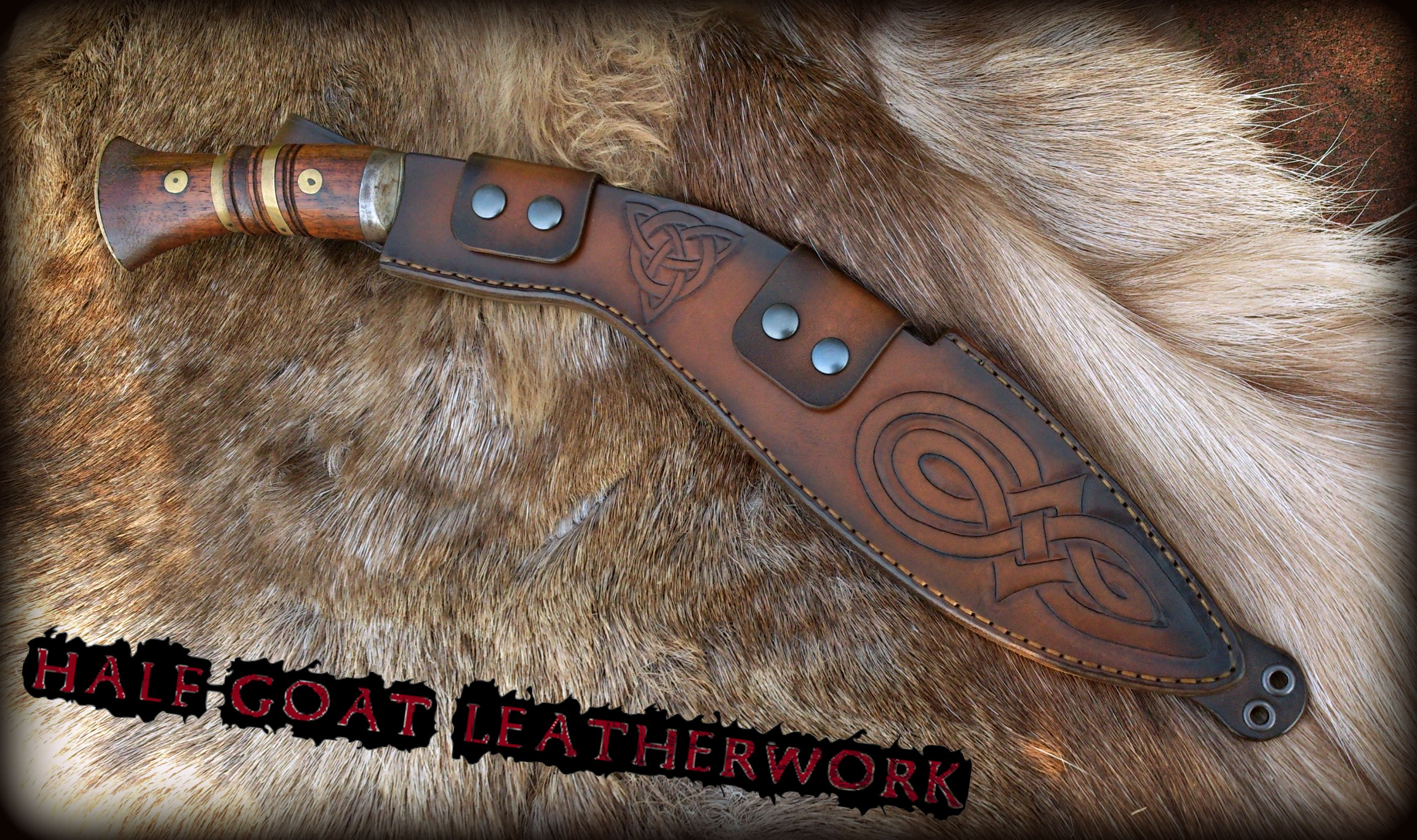 Knotwork Kukri Sheath