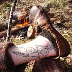 pictish shoe and tattoo