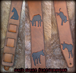 """""""Searching For Donkeys"""" Guitar Strap"""