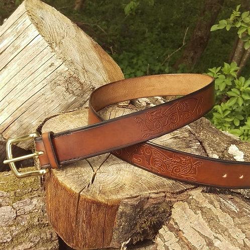 Viking wolves belt