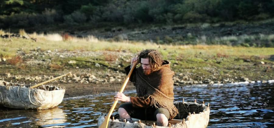 paddling at glashan crannog